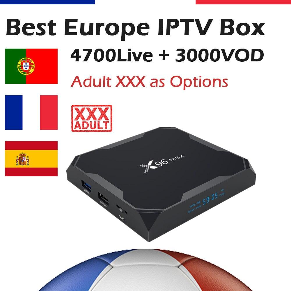 GOTiT French X96 Max Android 8 1 TV Box AmlogicS905X2 Dual WIF 5000 KING OTT IPTV
