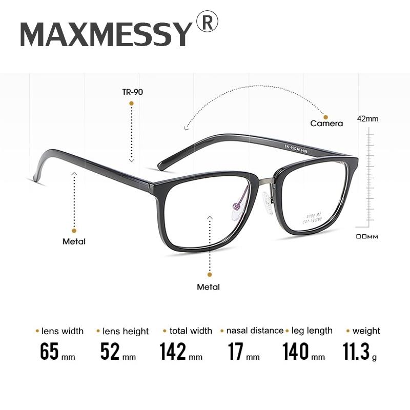 MAXMESSY Women Ultra Light TR90 Anti Blue Ray Glasses Men Anti-radiation Optical Computer Eyeglasses Frames Male Spectacles F049