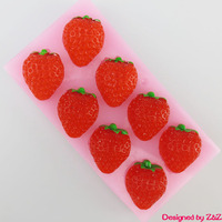 silicone Strawberry cake fondant cake decorating tools moon cake mould cooking recipes cakes Handmade chocolate molds clay mold