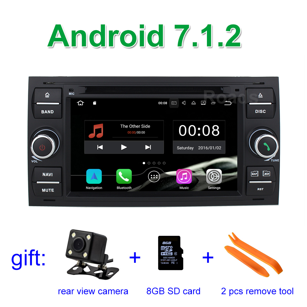 2GB RAM Android 7.1.2 Car DVD Player for Ford Galaxy Fusion C S MAX Focus Connect Kuga with BT Wifi Radio