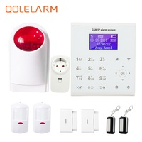 433 MHz English Polish Sms Wifi Gsm Gprs Home Alarm System Home Automation Smart Socket Anti