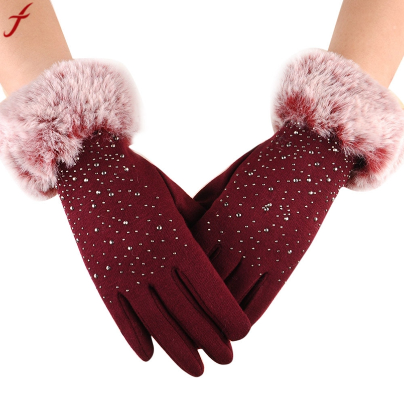 2017 Winter Mittens Women Fashion Warm Thicken Cotton ...