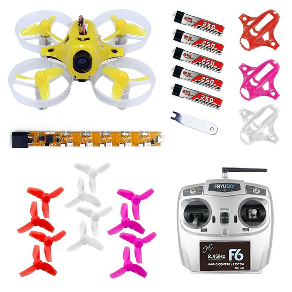 F20023 Kingkong Tiny6 RTF Mini Racing Drone Quadcopter with 800TVL Camera Feiyusky F6 RC Transmitter