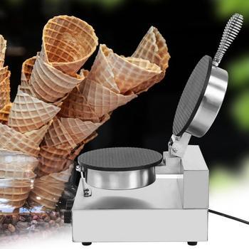 Elektryczny maszynka do sajgonek do pieczenia maszyna do lodów stożek ciasto smażenia Grill Sonifer chrupiące omlet formy krepa do pieczenia Pan naleśnik tanie i dobre opinie 500 ml Własny chłodzenia Ice Cream Cone Machine Ashata 1200W