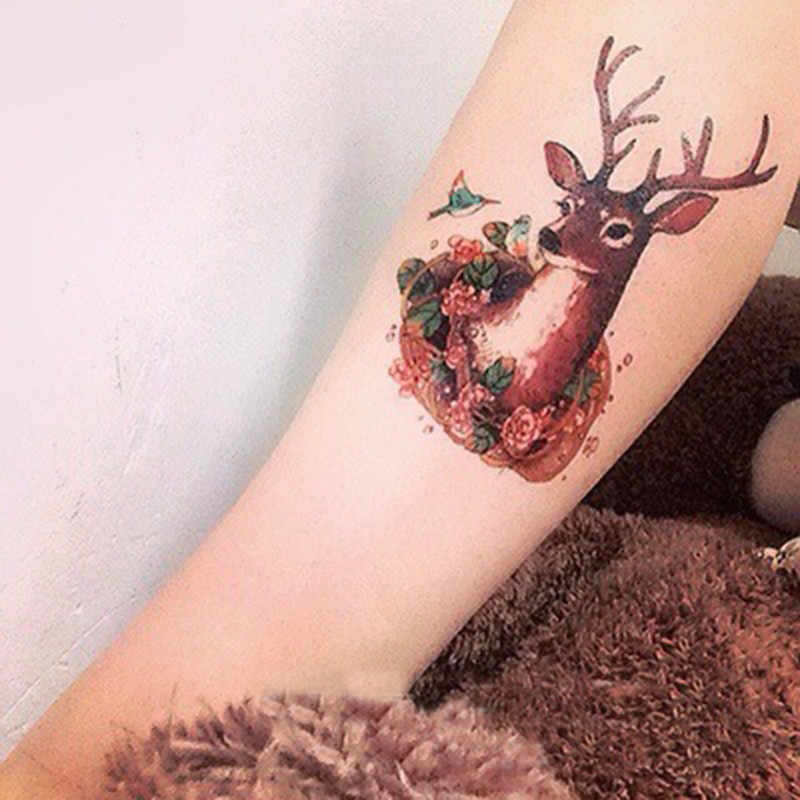 1* Popular Temporary Tattoo Stickers Body Art Waterproof Animals Deer Head Birds Flowers Drawing Newest Accessories Different