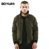 BOYUAN High Quality Mans Jacket Hot Sale Casual Jackets Men Brand Autumn Turn Down Collar Solid