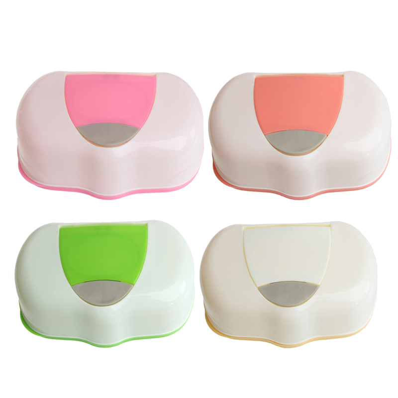 Dry Wet Tissue Paper Case Baby Wipes Napkin Storage Box Plastic Holder Container partol removable car tissue box car sun visor tissue paper holder cartoon auto seat back armrest hanging paper napkin container