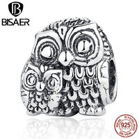 VOROCO Vivid 100 925 Sterling Silver Charming Owls Animal Screw Charms Fit Bracelets Necklaces Beads Jewelry