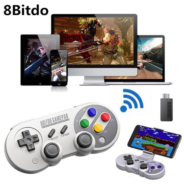 8 8bitdo Controlador de Jogo Sem Fio Bluetooth Controlador Joystick Gamepad para o macOS Android SF30 Pro GamPad