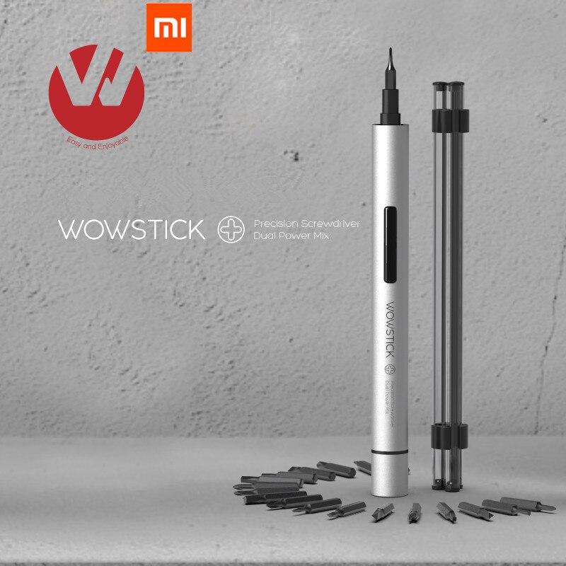 Original XIAO mi mi jia wowstick 1 Wowstick + 19 em 1 Trabalho poder chave De fenda elétrica Sem Fio Com Mi home smart home kit todos os produtos