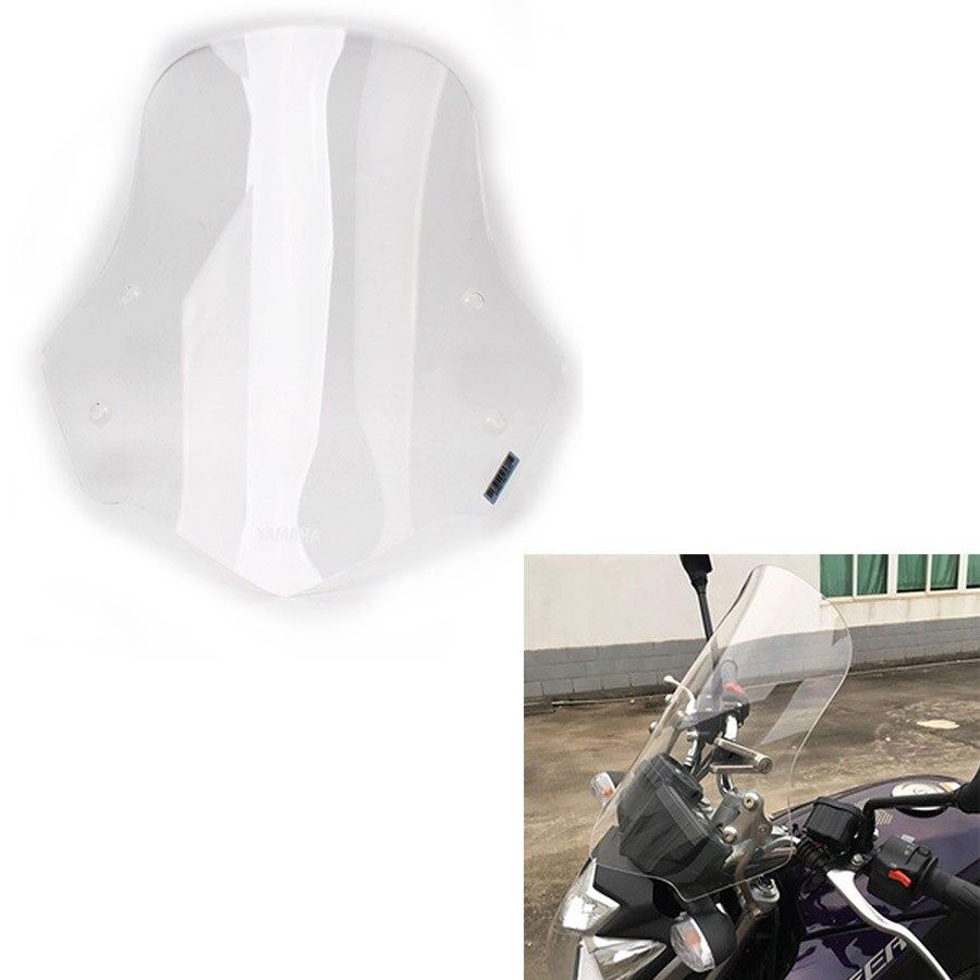 Motos De Alta Qualidade ABS Frente Windshield Windscreen Defletores de Vento Claro para FAZER YS250 40 CM