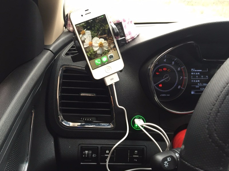 DIY 12V - 24V Dual USB Car Charger Power Outlet 1A & 2.1A for Ipad Iphone Car Boat Marine Mobile LED Light Blue Red Green Orange 8