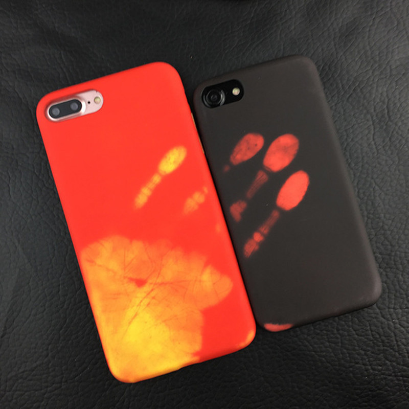 Fashion Thermal Sensor Soft Case for iphone 6 6s Thermal Heat Induction phone case fundas conque for iphone 7 7plus protective
