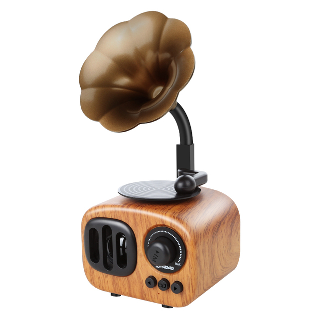 TOPROAD Mini Portable Bluetooth Wireless Speaker Retro Wood Speakers Loudspeaker Supprot FM Radio Hands-free Call TF Card AUX in 5