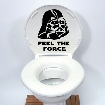 Star Wars Toilet Seat Sticker-Free Shipping Bathroom Stickers Star Wars WallPapers Wall Stickers With Quotes