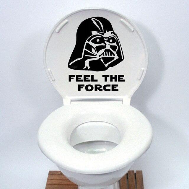 Star Wars Toilet Seat Sticker Funny cartoon Decalcomania Del Vinile Home Decor N