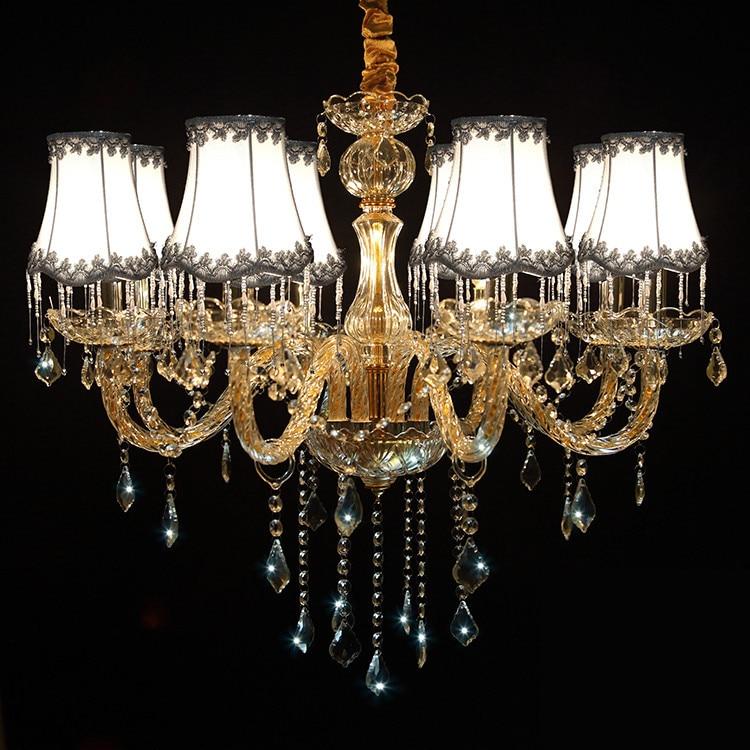 Modern Led Chandelier For Kitchen Bedroom Glass K9 Crystal
