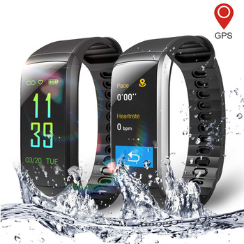 Fitness Smart Watch for Men and Women Heart Rate Monitor Waterproof Pedometer GPS Sports Smartwatch Bracelet For Android iPhone