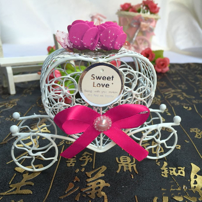 Us 6 78 27 Off Beautiful 5pcs Cinderella Carriage Candy Chocolate Boxes Birthday Wedding Party Favour New Party Gift Chrismas Hollow Box Decor In