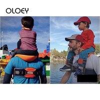OLOEY Outdoor Travel Children Tool Hands Free Shoulder Carrier Hip Seat Travel Child Strap Rider Travel Back Frame Infant Saddle