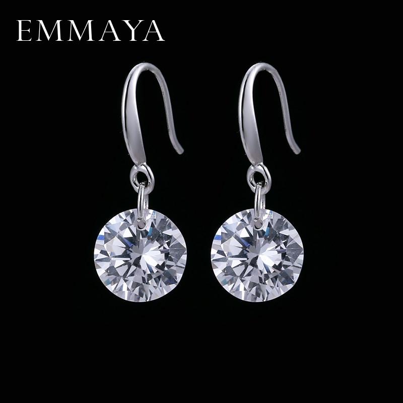 EMMAYA Austrian Crystal Wedding Earrings Silver Color Fashion Brand Vintage CZ Jewelry For Women