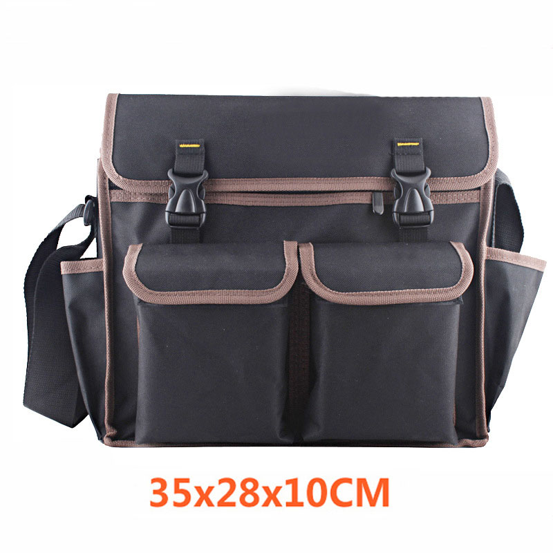 Foldable Tool Bag 600D Waterproof Oxford Canvas Tool Bag Shoulder Bag Handbag Tool Organizer Large Capacity Storage Bag