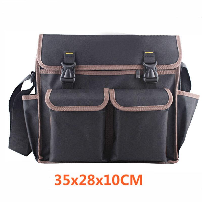 Foldable Tool Bag 600D Waterproof Oxford Canvas Tool Bag Shoulder Bag Handbag Tool Organizer Large Capacity Storage Bag