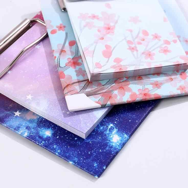 40 feuilles Kawaii étoile cerisier en fleurs N fois collant mémo bloc-notes Clip notes papier onglets Paperlaria à faire liste planificateur papeterie