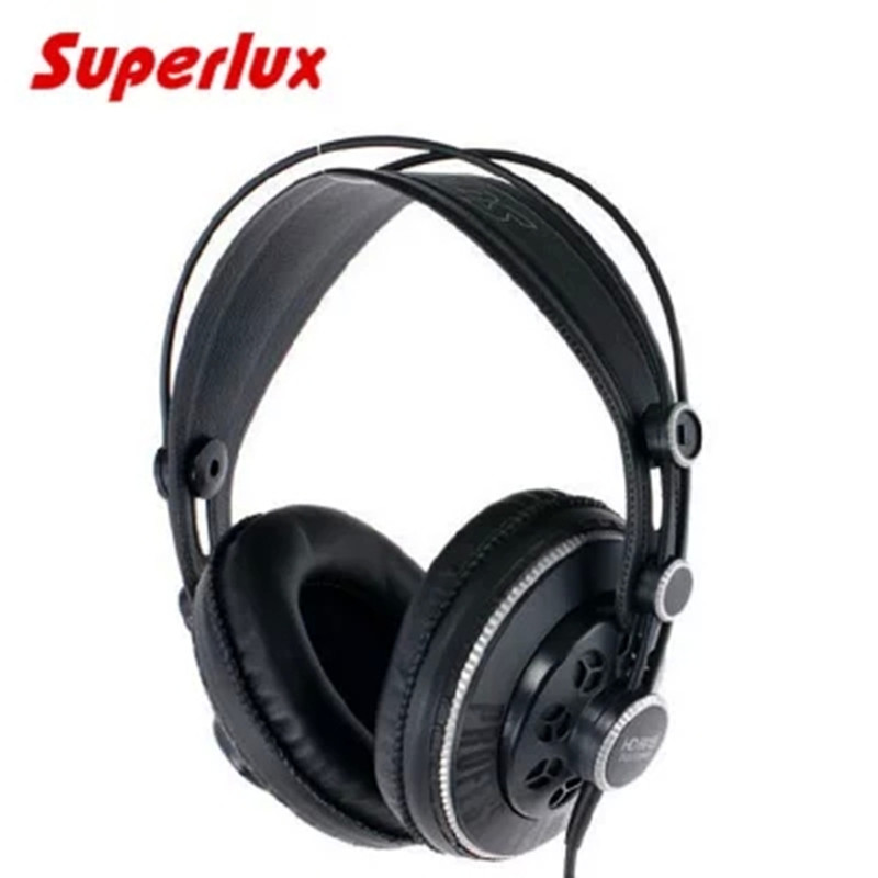 Professional Studio Headphones Superlux HD681B Semi-open Dynamic Stereo Monitoring Headset DJ Hifi Noise Cancelling Earphone oneodio professional studio headphones dj stereo headphones studio monitor gaming headset 3 5mm 6 3mm cable for xiaomi phones pc