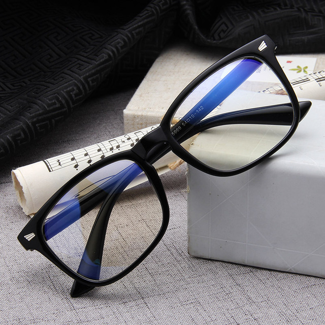 a840a74ca مكافحة الأزرق أشعة الكمبيوتر نظارات الرجال الأزرق ضوء طلاء الألعاب نظارات  للكمبيوتر حماية العين الرجعية نظارات