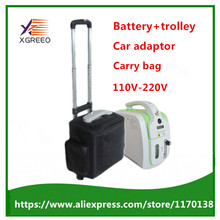 XGREEO XTY-BC101 Oxygen Concentrator with Battery Trolley Carry bag Car adaptor oxygen generator concentrator