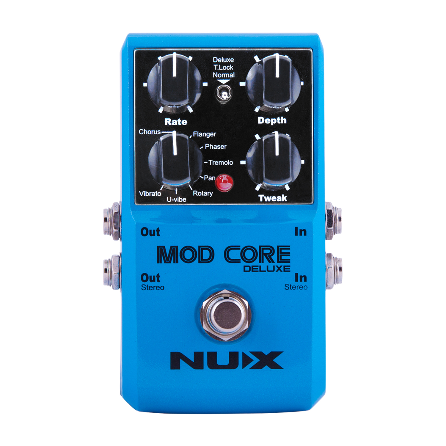 NUX Mod Core Deluxe Modulation Guitar Effect Pedal Tone Lock  Upgraded Hardware 8 Modulation effects  TSAC Techn nux tape core deluxe tape echo guitar effect pedal decay modulation 3 repro head compact stompbox 7 delay sound with free gift