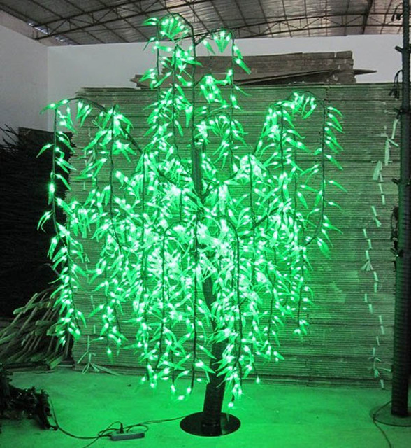 LED Willow Tree Light 1296 pcs LEDs 2m/6.6FT Green Color Home Garden ...