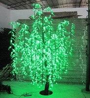 Oferta Sauce LED Luz de árbol 1296 piezas LEDs 2 m 6 6FT Color verde casa decoración