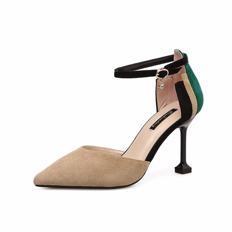 Delle donne di modo sexy sottili tacchi alti sandali delle donne di estate scarpe a punta tow sandali-in Pumps da donna da Scarpe su AliExpress - 11.11_Doppio 11Giorno dei single 1