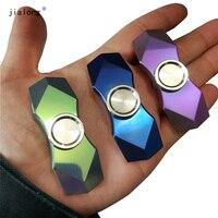 Star Fall Titanium Alloy EDC Diamond Shape Plating Metal Finger Spinner Gyro Hand Spinner Gyroscope HandSpinner