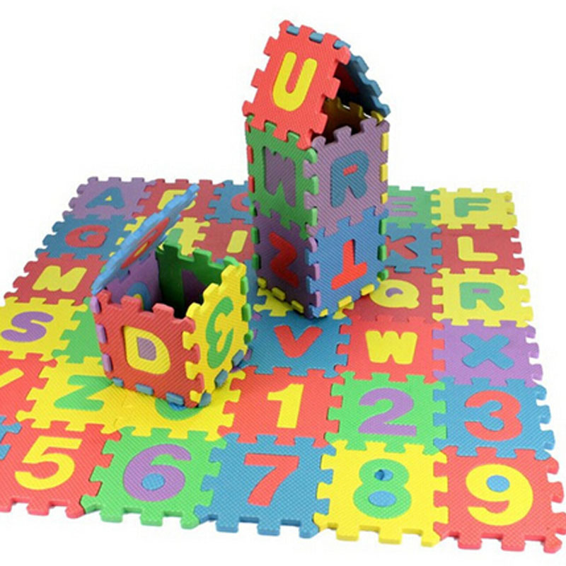 36pcs Puzzle Baby Toys Foam Alphabet Numbers Play Floor Mat Children Cartoon Animal Carpet Safety Mat For Children