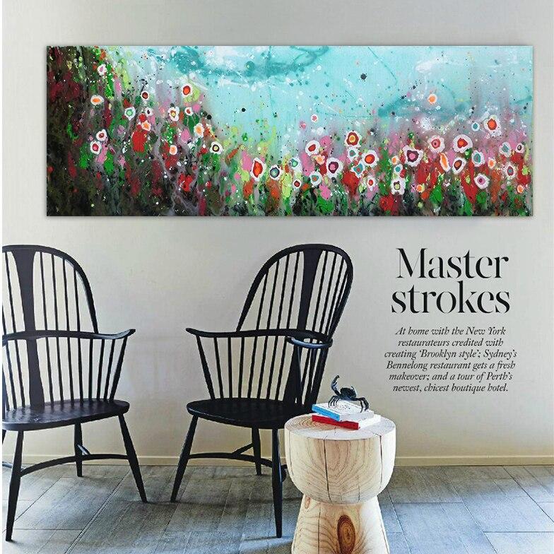 fleurs aquarelle abstrait