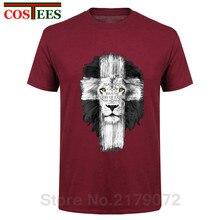 New Mens Jesus Kerusso Brand Christian T-Shirt Mens Lion Cross Fear Not Tops Tee Shirts Casual Harajuku Camisetas Hombre T Shirt