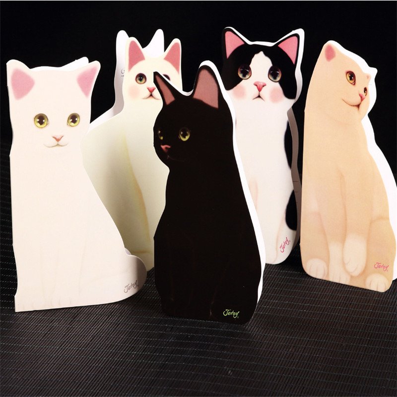 High Quality!5PC Mixed Cute Cat Folding Greeting Card Birthday ...