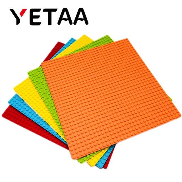 YETAA Clássico Placa de Base Placa De Base para Tijolos Compatível Legoed figuras 32 dots DIY Blocos de Construção de Brinquedos & gift Para criança