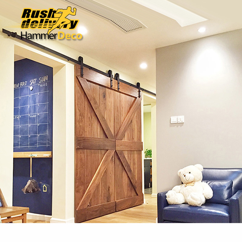 1500mm To 2500mm Double Sliding Barn Door Hardware Track For