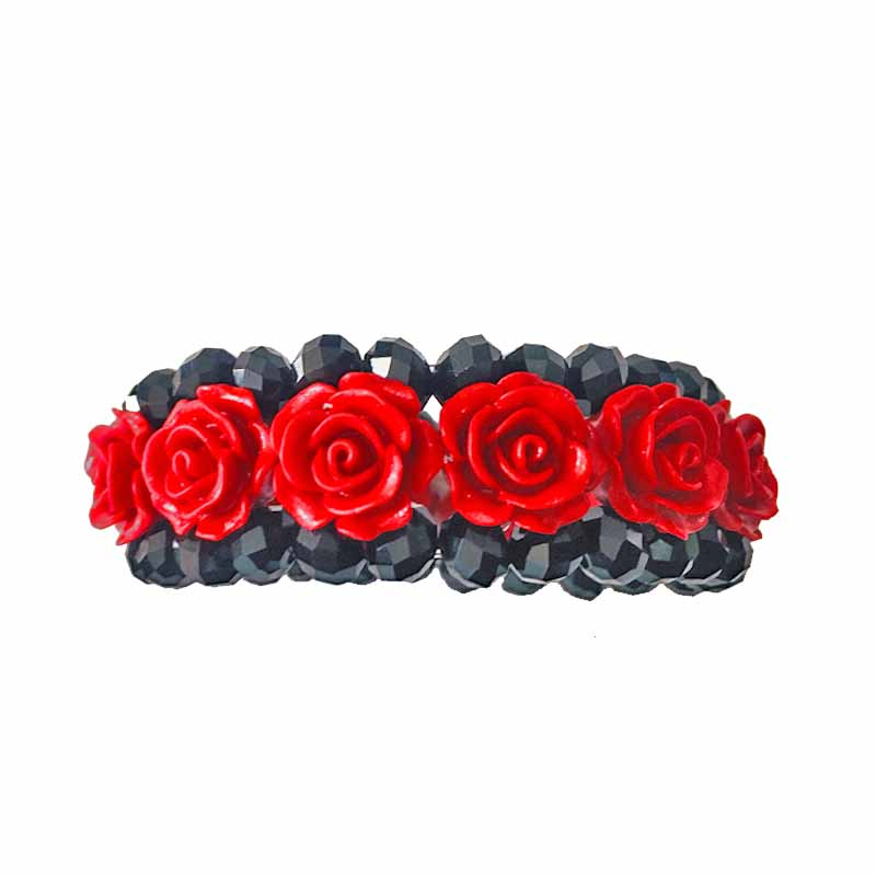 Trendy Red Carved Lacquer Bracelet Bangles Free Shipping Charm Round bead Chain Glass Bracelets Jewelry For Women Gift Meajoe trendy letter heart round rhinestone bracelet for women
