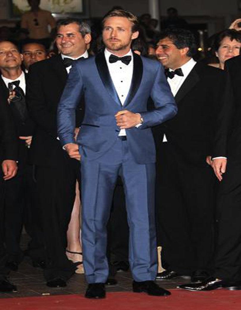 Best Men Custom Made Navy Blue Business Groom Tuxedos Slim Fit Color ...