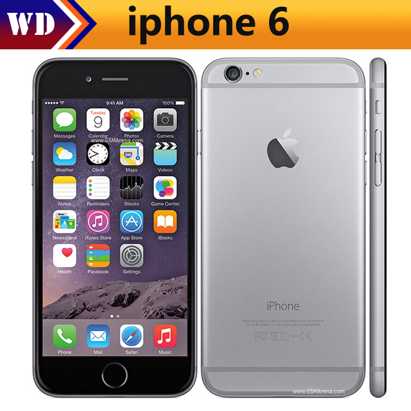 Unlocked Apple IPhone 6 Dual Core 4.7inch 1.4GHz 8.0MP Camera 3G WCDMA 4G LTE Used Phone