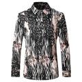 Leopard Print Shirt For Men 2017 Luxury Brand Men's Fashion Dress Shirt Long Sleeve Mens Fancy Shirts Cotton Camisa Social T201
