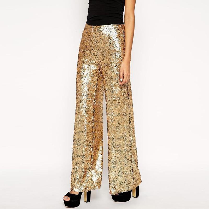 Aliexpress.com : Buy Vogue Street Women Trousers Plus Size Gold ...