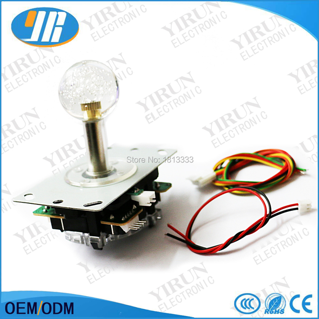 US $5 8 |Arcade LED joystick 5V illuminated Joystick SANWA 5pin Type Stick  for Arcade cabinet DIY -in Coin Operated Games from Sports & Entertainment