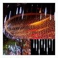 100-240 V EUA Plug 30 CM 144 Leds Meteor Tubo Chuveiro de Chuva LED Luz Para Jardim De Casamento Decoração Luzes de natal Ao Ar Livre 9 S
