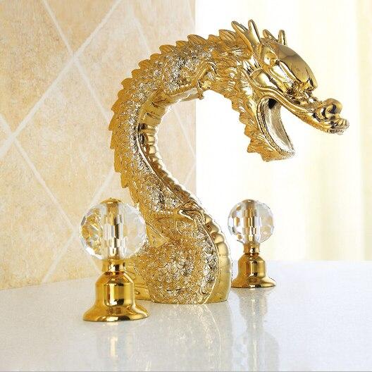 Роскошные латуни дракона бассейна кран, хром отделка бортике художественный нажмите, бесплатная доставка X9617B2